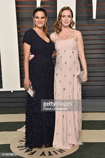 Actress Emily Blunt and guest attend the 2016 Vanity Fair Oscar Party Hosted By Graydon Carter at the Wallis Annenberg Center for the Performing Arts...