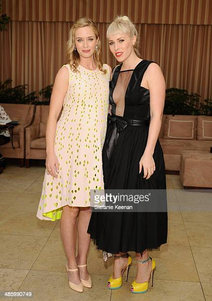 Actress Emily Blunt and recording artist Natasha Bedingfield attend the Dior Beauty Operation Smile Luncheon at Sunset Tower on January 8 2014 in...