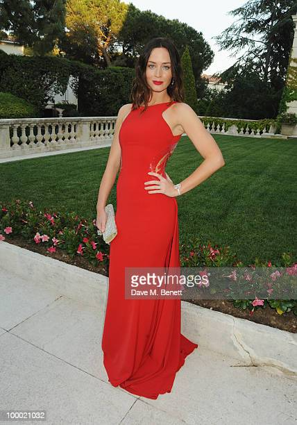 Actress Emily Blunt arrives at amfAR's Cinema Against AIDS 2010 benefit gala at the Hotel du Cap on May 20 2010 in Antibes France