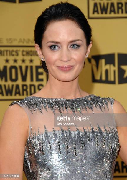 Actress Emily Blunt arrives at the 15th Annual Critic's Choice Movie Awards at the Hollywood Palladium on January 15 2010 in Hollywood California
