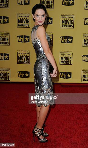 Actress Emily Blunt arrives at the 15th annual Critic's Choice Movie Awards held at Hollywood Palladium on January 15 2010 in Hollywood California