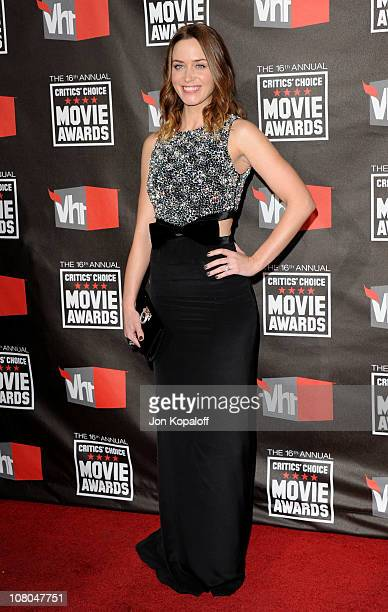 Actress Emily Blunt arrives at the 16th Annual Critics' Choice Awards at the Hollywood Palladium on January 14 2011 in Los Angeles California