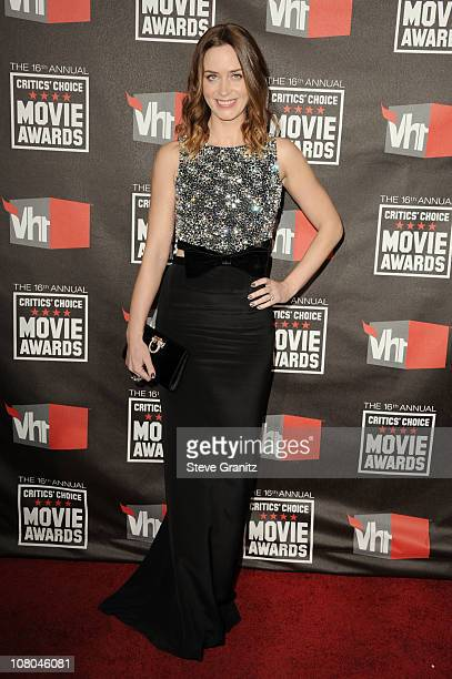 Actress Emily Blunt arrives at the 16th Annual Critics' Choice Movie Awards at the Hollywood Palladium on January 14 2011 in Los Angeles California