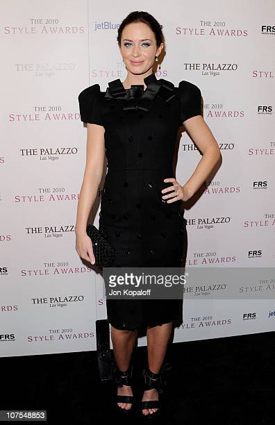 Actress Emily Blunt arrives at the 2010 Hollywood Style Awards at Billy Wilder Theater at The Hammer Museum on December 12 2010 in Westwood California