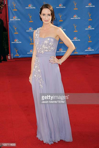 Actress Emily Blunt arrives at the 62nd Annual Primetime Emmy Awards held at the Nokia Theatre LA Live on August 29 2010 in Los Angeles California