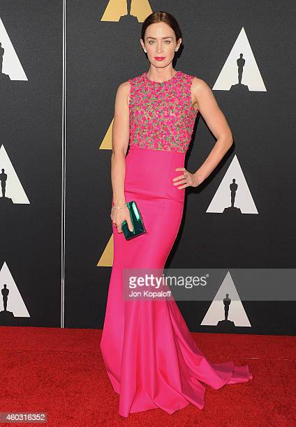 Actress Emily Blunt arrives at the Academy Of Motion Picture Arts And Sciences' Governors Awards at The Ray Dolby Ballroom at Hollywood & Highland...