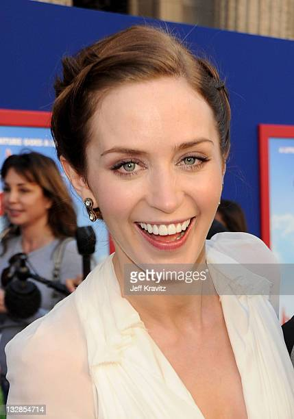 Actress Emily Blunt arrives at the Los Angeles premiere of 'Gnomeo and Juliet' at the El Capitan Theatre on January 23 2011 in Hollywood California
