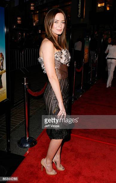 Actress Emily Blunt arrives at the premiere of Sunshine Cleaning held at Pacific Theaters at The Grove on March 9 2009 in Los Angeles California