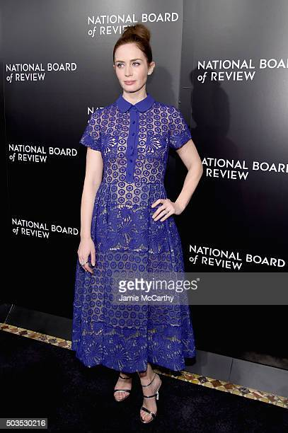 Actress Emily Blunt attends 2015 National Board of Review Gala at Cipriani 42nd Street on January 5 2016 in New York City
