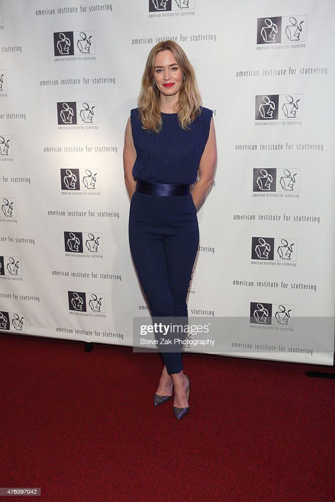 Actress Emily Blunt attends 9th Annual American Institute For Stuttering Benefit Gala at The Lighthouse at Chelsea Piers on June 8, 2015 in New York City.