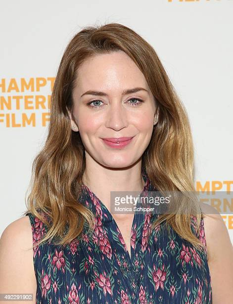 Actress Emily Blunt attends A Conversation With…Emily Blunt on Day 4 of the 23rd Annual Hamptons International Film Festival on October 11 2015 in...