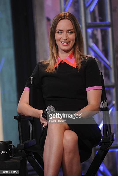 Actress Emily Blunt attends AOL BUILD Speaker Series Sicario at AOL Studios In New York on September 16 2015 in New York City
