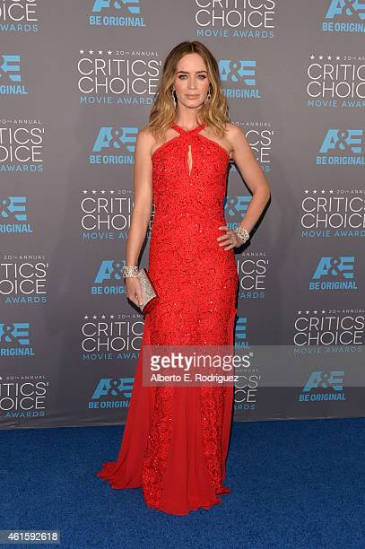 Actress Emily Blunt attends the 20th annual Critics' Choice Movie Awards at the Hollywood Palladium on January 15 2015 in Los Angeles California