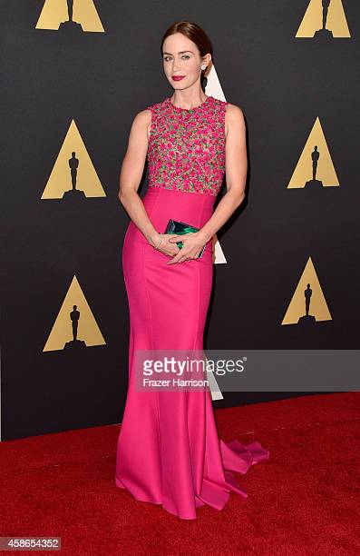 Actress Emily Blunt attends the Academy Of Motion Picture Arts And Sciences' 2014 Governors Awards at The Ray Dolby Ballroom at Hollywood Highland...