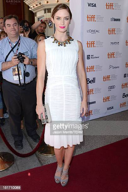 Actress Emily Blunt attends the Arthur Newman premiere during the 2012 Toronto International Film Festival at The Elgin Theatre on September 10 2012...