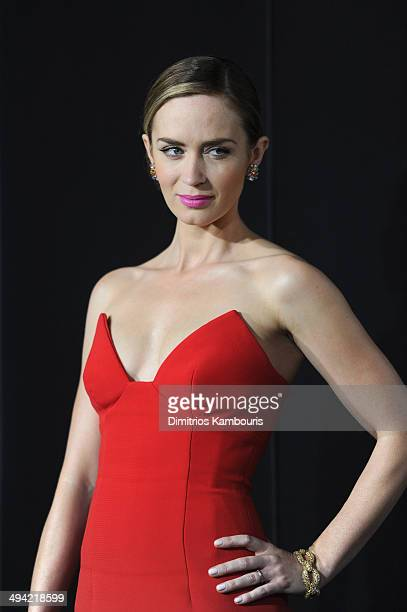 Actress Emily Blunt attends the 'Edge Of Tomorrow' red carpet repeat fan premiere tour at AMC Loews Lincoln Square on May 28 2014 in New York City