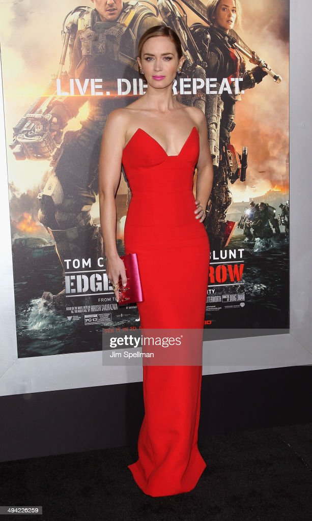 Actress Emily Blunt attends the 'Edge Of Tomorrow' red carpet repeat fan premiere tour at AMC Loews Lincoln Square on May 28, 2014 in New York City.