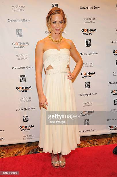 Actress Emily Blunt attends the IFP's 22nd Annual Gotham Independent Film Awards at Cipriani Wall Street on November 26 2012 in New York City