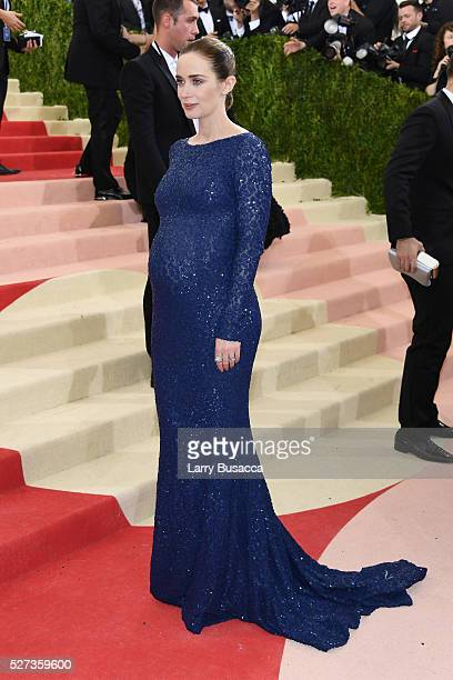 Actress Emily Blunt attends the 'Manus x Machina Fashion In An Age Of Technology' Costume Institute Gala at Metropolitan Museum of Art on May 2 2016...