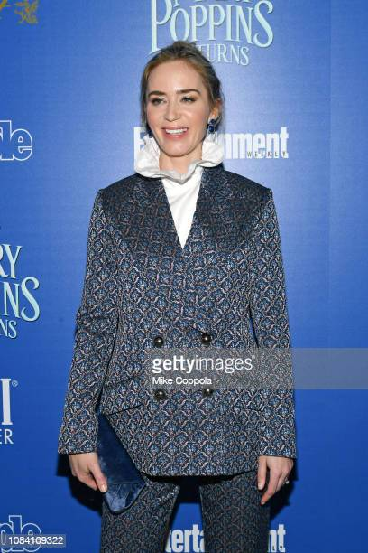 YORK DECEMBER Actress Emily Blunt attends the Mary Poppins Returns hosted by The Cinema Society at SVA Theater on December 17 2018 in New York City