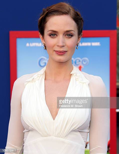 Actress Emily Blunt attends the premiere of Touchstone Pictures' 'Gnomeo and Juliet' at the El Capitan Theatre on January 23 2011 in Hollywood...
