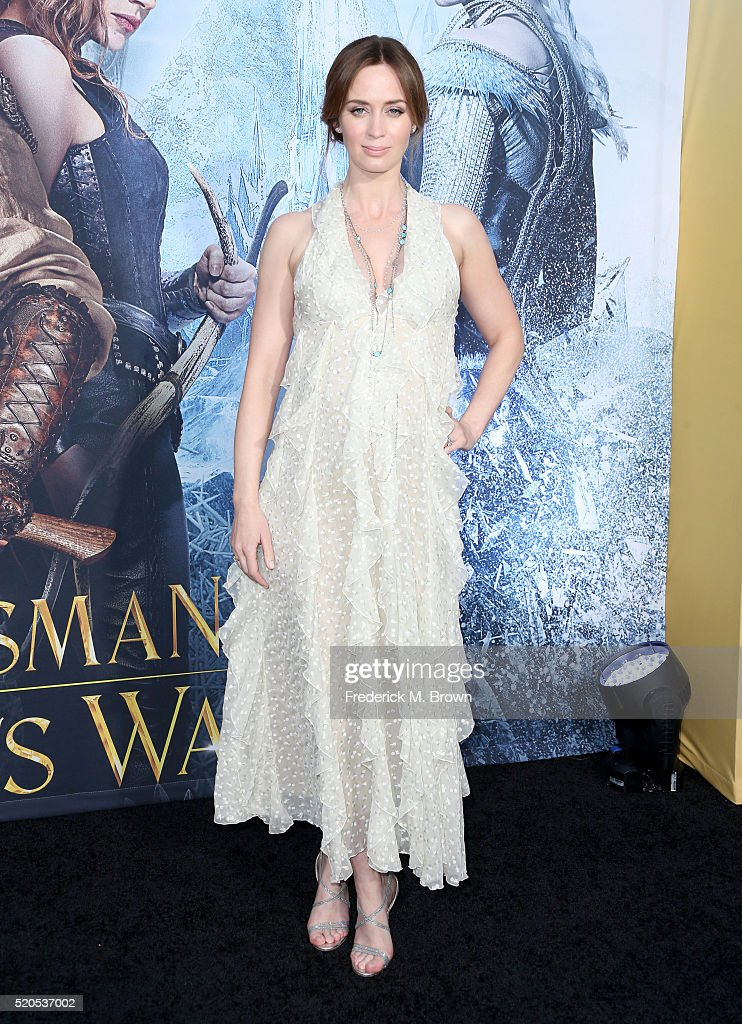 Actress Emily Blunt attends the premiere of Universal Pictures' 'The Huntsman: Winter's War' at the Regency Village Theatre on April 11, 2016 in Westwood, California.