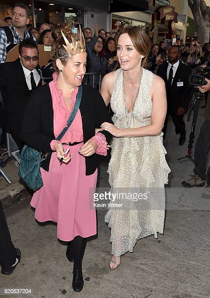 """Actress Emily Blunt attends the premiere of Universal Pictures' """"The Huntsman: Winter's War"""" at the Regency Village Theatre on April 11, 2016 in..."""