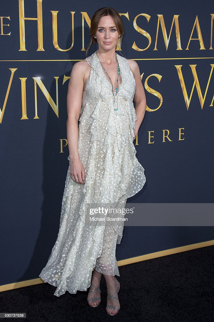 Actress Emily Blunt attends the premiere of Universal Pictures' 'The Huntsman: Winter's War' at Regency Village Theatre on April 11, 2016 in Westwood, California.