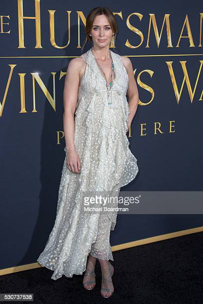 Actress Emily Blunt attends the premiere of Universal Pictures' 'The Huntsman Winter's War' at Regency Village Theatre on April 11 2016 in Westwood...
