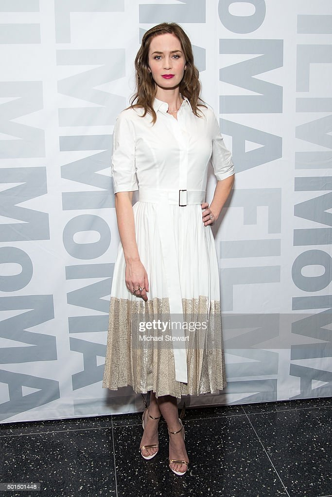 Actress Emily Blunt attends the 'Sicario' New York screening at Museum of Modern Art on December 15, 2015 in New York City.
