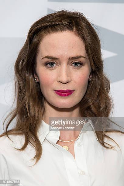 Actress Emily Blunt attends the 'Sicario' New York screening at Museum of Modern Art on December 15 2015 in New York City