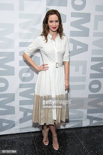 Actress Emily Blunt attends the Sicario New York screening at Museum of Modern Art on December 15 2015 in New York City