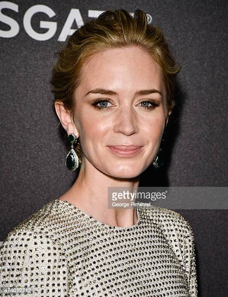 Actress Emily Blunt attends The Sicario Party Hosted By Grey Goose at Baoli Beach on May 19 2015 in Cannes France