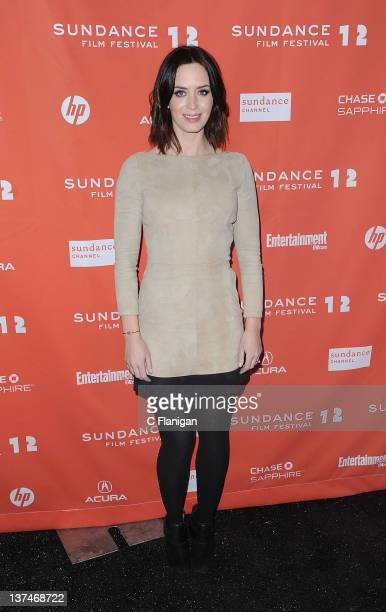 Actress Emily Blunt attends the 'Your Sister's Sister' premiere held at The MARC Theatre during the 2012 Sundance Film Festival on January 20 2012 in...