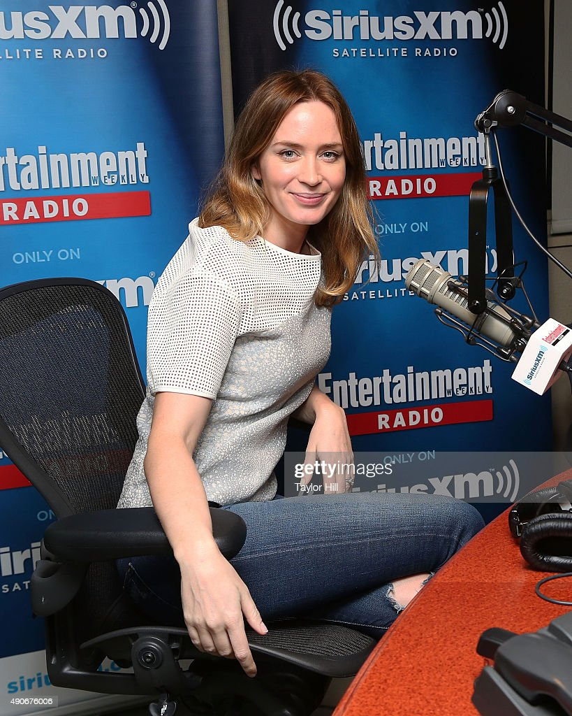 Actress Emily Blunt conducts an interview with Jess Cagle on Entertainment Weekly Radio at the SiriusXM Studios on September 30, 2015 in New York City.