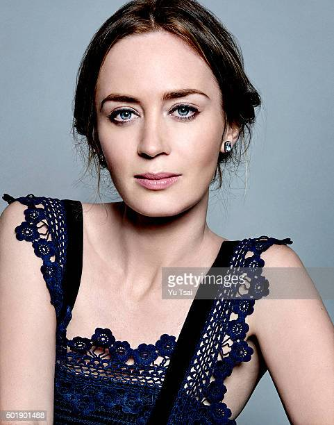 Actress Emily Blunt is photographed at the Toronto Film Festival for Variety on September 12 2015 in Toronto Ontario Published Image