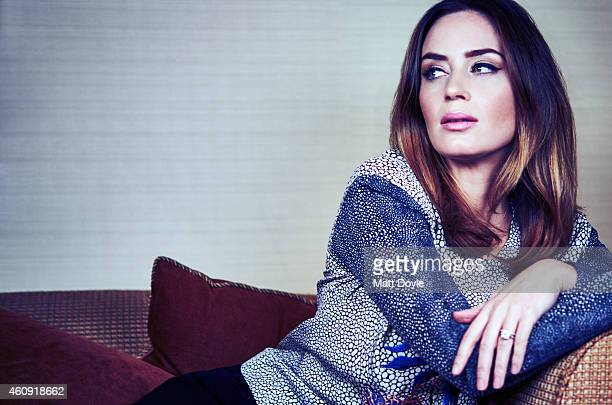 Actress Emily Blunt is photographed for Back Stage on November 25 2014 in New York City PUBLISHED IMAGE
