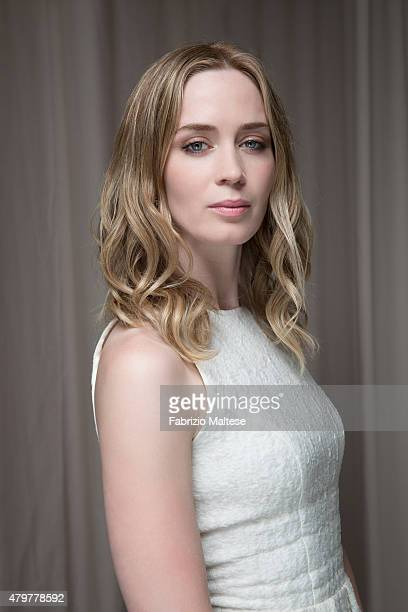 Actress Emily Blunt is photographed for The Hollywood Reporter on May 15 2015 in Cannes France