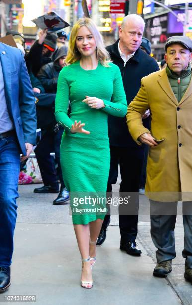 Actress Emily Blunt is seen outside 'Good Morning America' on December 17 2018 in New York City