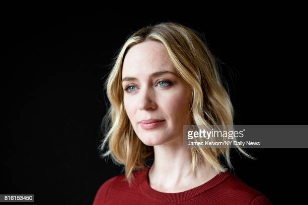 Actress Emily Blunt photographed for NY Daily News on September 26 in New York City