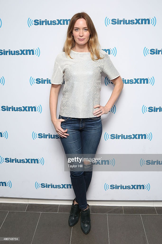 Actress Emily Blunt visits the SiriusXM Studios on September 30, 2015 in New York City.