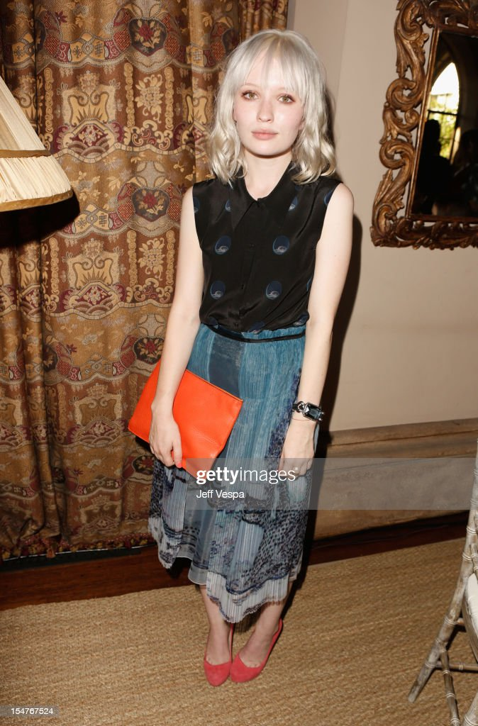 Actress Emily Browning attends CFDA/Vogue Fashion Fund Event hosted by Lisa Love and Mark Holgate and sponsored by Audi, Beauty.com, American Express, and J Brand at Chateau Marmont on October 25, 2012 in Los Angeles, California.