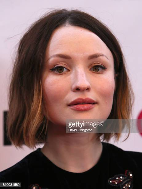 Actress Emily Browning attends the 2017 Outfest Los Angeles LGBT Film Festival Opening Night Gala of 'God's Own Country' at the Orpheum Theatre on...