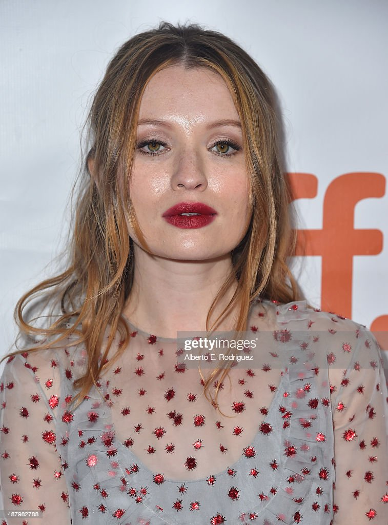Actress Emily Browning attends the 'Legend' premiere during the 2015 Toronto International Film Festival at Roy Thomson Hall on September 12, 2015 in Toronto, Canada.