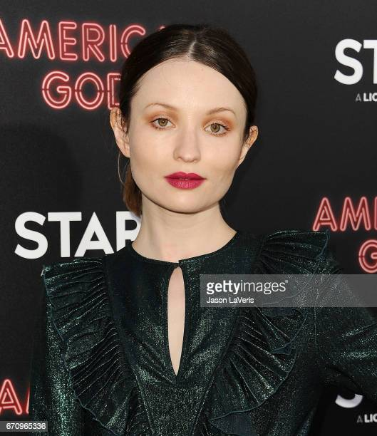 Actress Emily Browning attends the premiere of American Gods at ArcLight Cinemas Cinerama Dome on April 20 2017 in Hollywood California