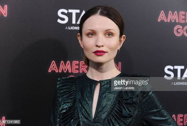"""Actress Emily Browning attends the premiere of """"American Gods"""" at ArcLight Cinemas Cinerama Dome on April 20, 2017 in Hollywood, California."""