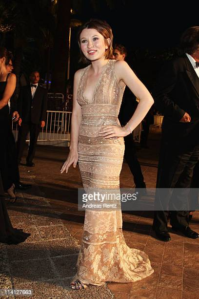 Actress Emily Browning departs from the 'Sleeping Beauty' premiere during the 64th Annual Cannes Film Festival at the Palais des Festivals on May 12...