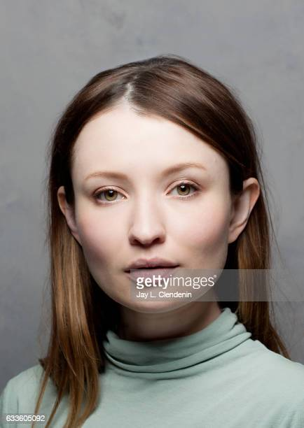 Actress Emily Browning from the film Golden Exits is photographed at the 2017 Sundance Film Festival for Los Angeles Times on January 22 2017 in Park...