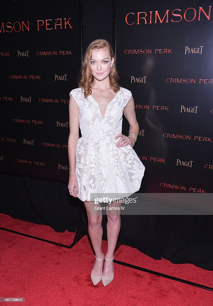 Actress Emily Coutts attends 'Crimson Peak' New York Premiere at AMC Loews Lincoln Square on October 14, 2015 in New York City.