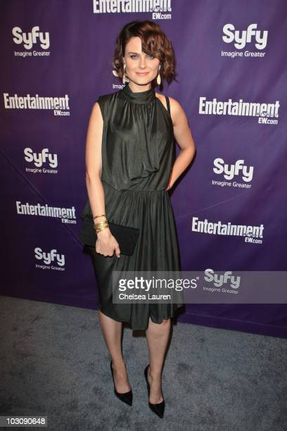 Actress Emily Deschanel arrives at the 2010 Comic-Con Celebration Hosted By Entertainment Weekly and Syfy at Hotel Solamar on July 24, 2010 in San...